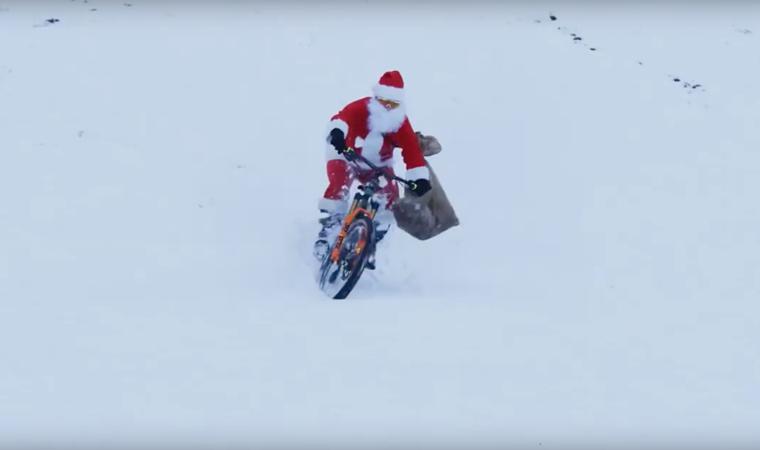Als Weihnachtsmann auf dem Bike: Wir bedanken uns bei Stefan Müller für seine Unterstützung!
