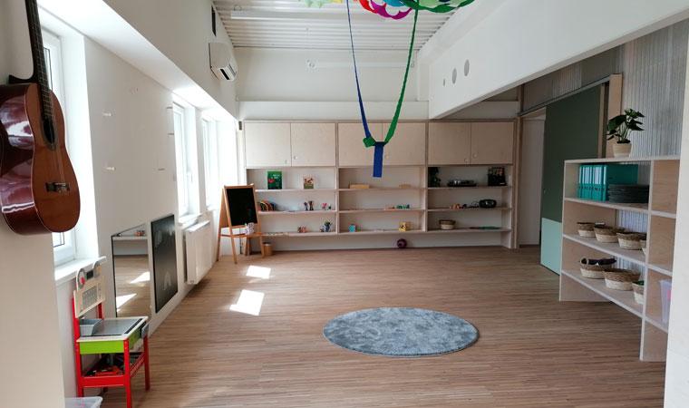 Kinderkrippe- und Kindergarten EVI: Eindrücke aus dem frisch fertiggestellten Bau!